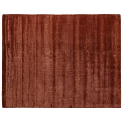 Smart Gem Hand-Woven Orange Area Rug Rug Size: 10 x 14