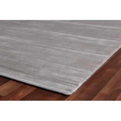 Smart Gem Hand-Woven Wool Gray Area Rug Rug Size: Rectangle 14 x 18