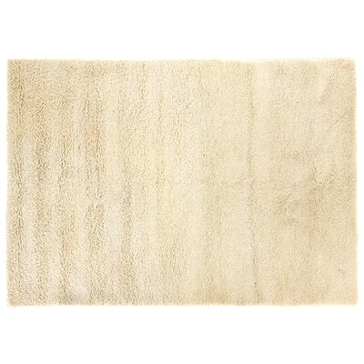 Sumo Shag and flokati Wool Ivory Area Rug Rug Size: 5 x 8