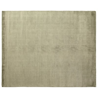 Dove Courduroy Hand-Woven Green Area Rug Rug Size: 4 x 6