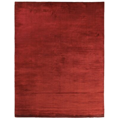 Dove Courduroy Hand-Woven Silk Red Area Rug Rug Size: Rectangle 14 x 18