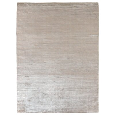 Dove Courduroy Hand-Woven Light Silver Area Rug Rug Size: 9 x 12