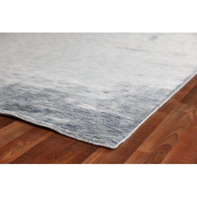 Softest Touch Hand Loomed Silk Gray Area Rug Rug Size: Rectangle 14 x 18