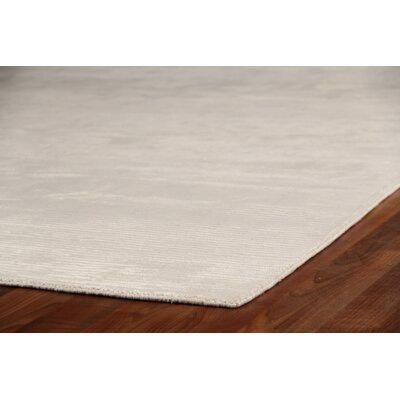 Dove Courduroy Hand-Woven Silk Beige Area Rug Rug Size: Rectangle 15 x 20