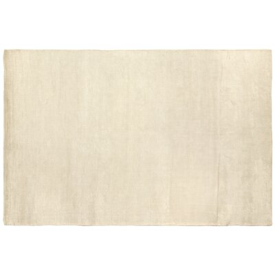 Dove Courduroy Hand-Woven White Area Rug Rug Size: 6' x 9'