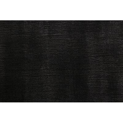 Smart Gem Hand-Woven Charcoal Area Rug Rug Size: 6 x 9