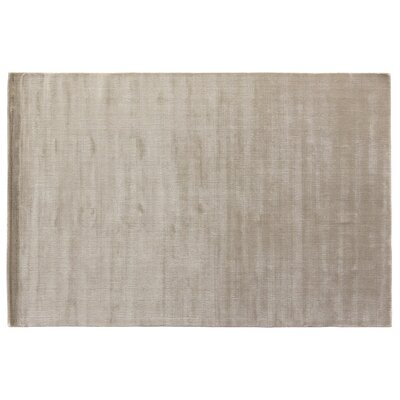 Smart Gem Hand-Woven Light Silver Area Rug Rug Size: 9 x 12