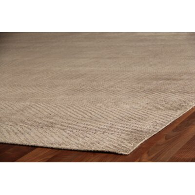 Hand-Loomed Silk Dark Gray Area Rug