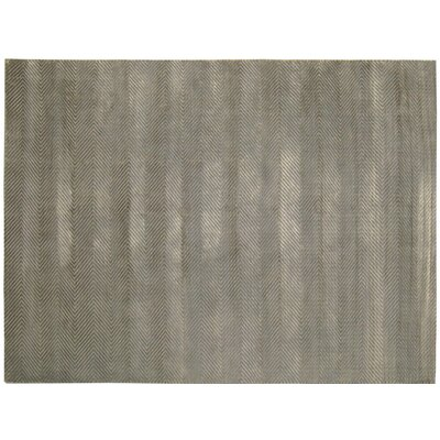 Herringbone Stitch Dark Gray Area Rug Rug Size: 9 x 12