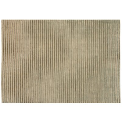 High Low Wave Hand-Woven Dark Beige Area Rug Rug Size: 9 x 12