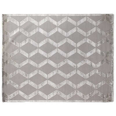 Metro Moreno Hand-Knotted Wool Silver Area Rug Rug Size: 10 x 14