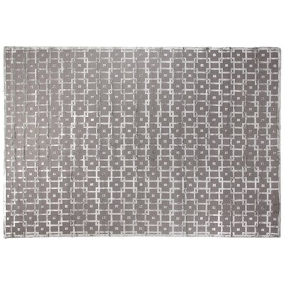 Metro Moreno Hand-Knotted Wool Gray/Silver Area Rug Rug Size: 4 x 6