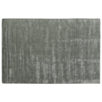 Smart Gem Sky Hand-Woven Gray Area Rug Rug Size: 8 x 10