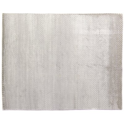 Dove Oxford Hand-Woven Silver Area Rug Rug Size: 12 x 15