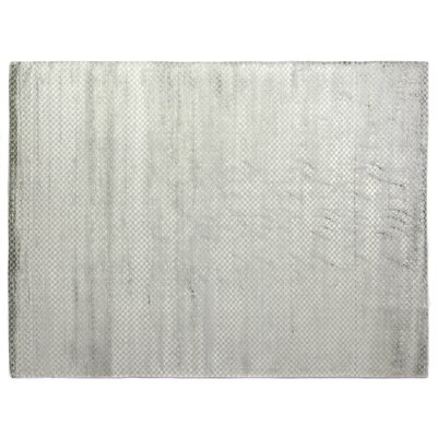 Dove Oxford Hand-Woven Gray Area Rug Rug Size: 10 x 14
