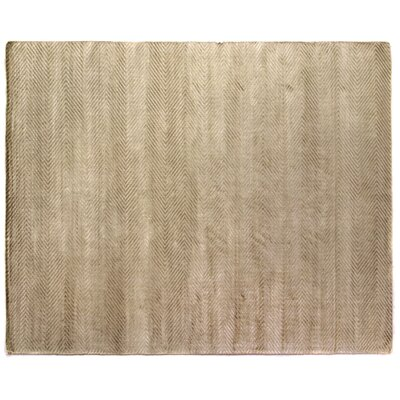 Herringbone Hand-Woven Light Beige Area Rug Rug Size: 9 x 12