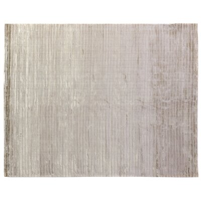 High Low Wave Hand-Woven Light Beige Area Rug Rug Size: 6 x 9