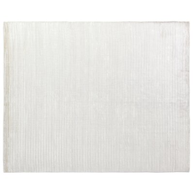 High Low Wave Hand-Woven White Area Rug Rug Size: 6 x 9