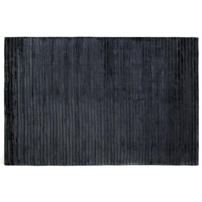 High Low Wave Hand-Woven Navy Area Rug Rug Size: 9 x 12