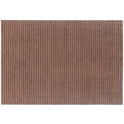 High Low Wave Hand-Woven Chocolate Area Rug Rug Size: 8 x 10