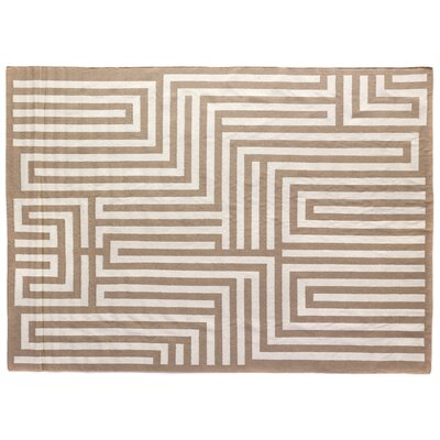 Flat Weave Beige Area Rug Rug Size: 5 x 8