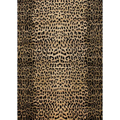 Modern Wilderness Black/Light Gold Area Rug Rug Size: 6 x 9