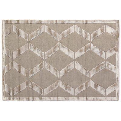 Metro Moreno Hand-Knotted Wool Beige Area Rug Rug Size: 6 x 9