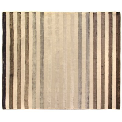 Rugby Tunnel Hand-Woven Ivory Area Rug Rug Size: 10 x 14