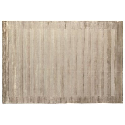 Wide Stripe Panel Hand-Woven Taupe Area Rug Rug Size: 10 x 14