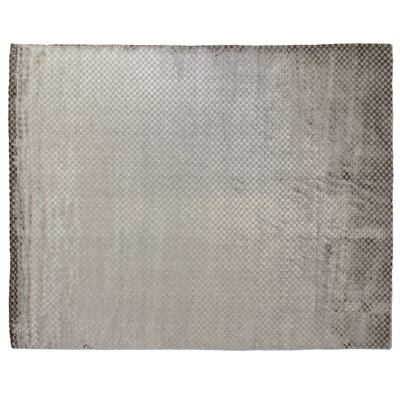 Dove Oxford Hand-Woven Dark Gray Area Rug Rug Size: 10 x 14