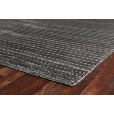 Wave Silk Dark Gray Area Rug Rug Size: Rectangle 4 x�6