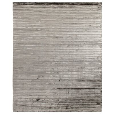 High Low Hand-Woven Dark Gray Area Rug Rug Size: 6 x 9
