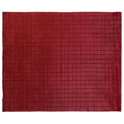 Tiny Bars Mini Hand-Woven Red Area Rug Rug Size: 8 x 10
