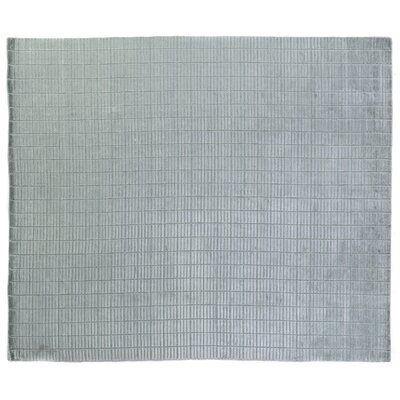 Tiny Bars Hand Woven Light Blue Area Rug Rug Size: 8 x 10