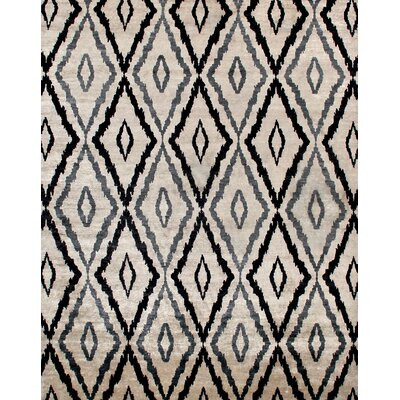 Camden Hand-Knotted Blue/Ivory Area Rug Rug Size: Rectangle 10 x 14
