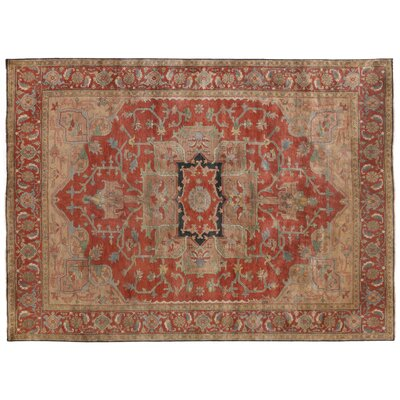 Serapi Hand-Woven Red Area Rug Rug Size: 9 x 12