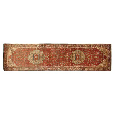 Serapi Hand-Woven Red Area Rug Rug Size: Runner 26 x 12