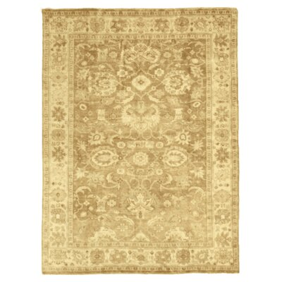Oushak Hand-Knotted Wool Brown Area Rug Rug Size: 8 x 10