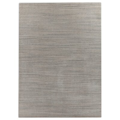 Hand-Loomed Dark Gray Area Rug Rug Size: 9 x 12