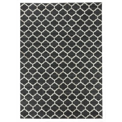 Charcoal/Ivory Area Rug Rug Size: Rectangle 116 x 146