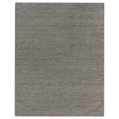 Hand-Woven Wool Silver Area Rug Rug Size: Rectangle 8 x 10