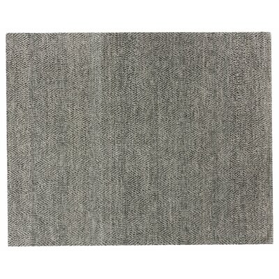 Hand-Woven Wool Gray Area Rug Rug Size: Rectangle 6 x 9