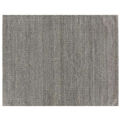 Hand-Woven Wool Black Area Rug Rug Size: Rectangle 9 x 12