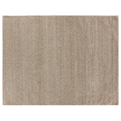 Hand-Woven Wool Beige Area Rug Rug Size: Rectangle 9 x 12