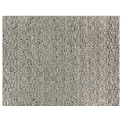 Hand-Woven Wool Silver Area Rug Rug Size: Rectangle 10 x 14