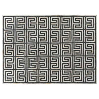 Charcoal/Ivory Rug Rug Size: Rectangle 96 x 136
