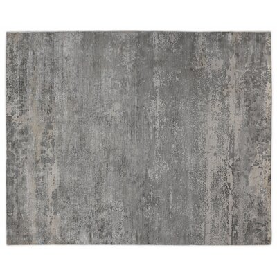 Hand-Woven Silver/Gray Area Rug Rug Size: 10 x 14