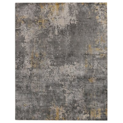 Hand-Loomed Silver/Gray Area Rug Rug Size: 10 x 14