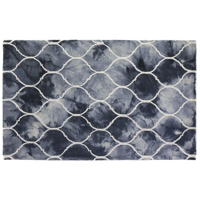 Dip-Dye Hand-Tufted Wool Blue Area Rug Rug Size: 5 x 8