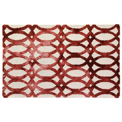 Dip-Dye Hand-Tufted Wool Red Area Rug